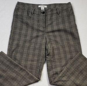 White House Black Market capri checked pants sz 4